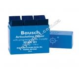 Артикуляционная бумага Бауш , BK01 ( Bausch) 200 мкм синий 300 полосок в пластиковом боксе